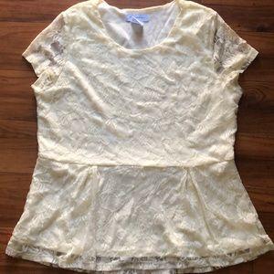 Women's Lace Top by K. Jordan Size L
